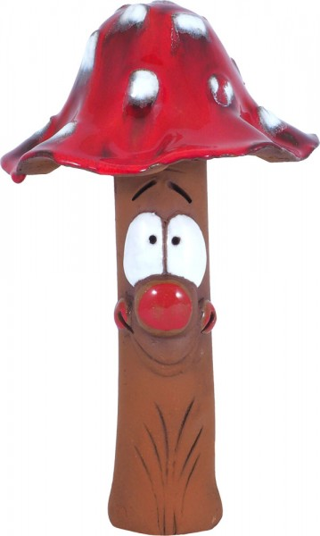 Toadstool with face 24 cm red