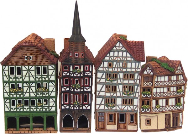 Marktplatz Fritzlar 4 teilig