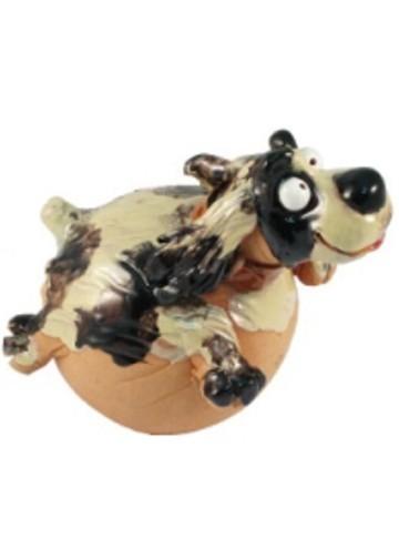 Gartenkugel Hund
