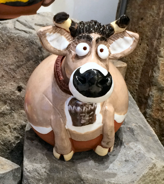 Garden ball cow with bell
