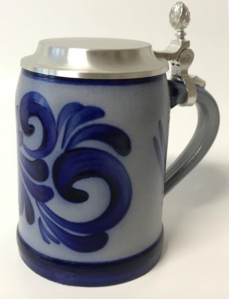Beer mug 0.5 l with pewter lid