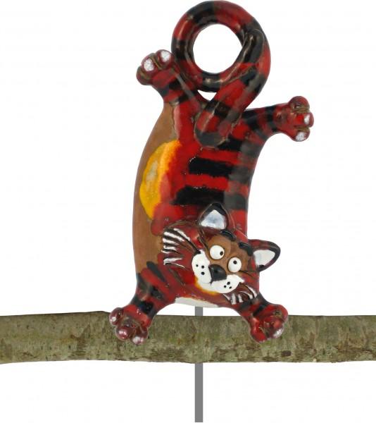 Gartenkugel Katzen Handstand