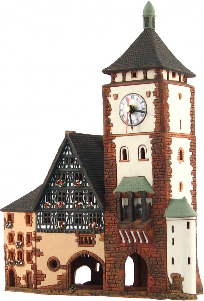 Schwabentor mit Uhr