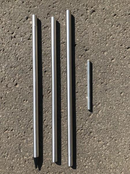 passender Metallstab ,Länge 1,20m, 3-teilig